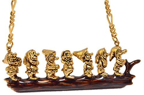 Disney by Couture Kingdom Snow White and the Seven Dwarfs Necklace