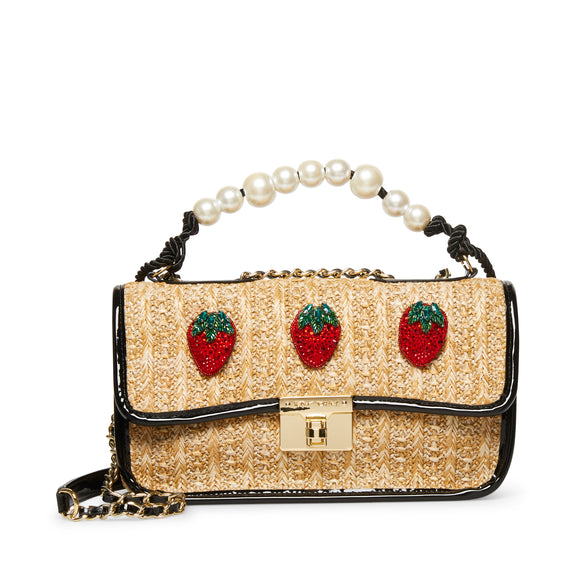 Strawberry Fields Straw Natural Crossbody