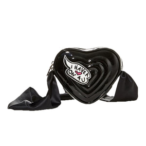 Betsey Johnson Limited Edition Heart On You Black Crossbody Bag