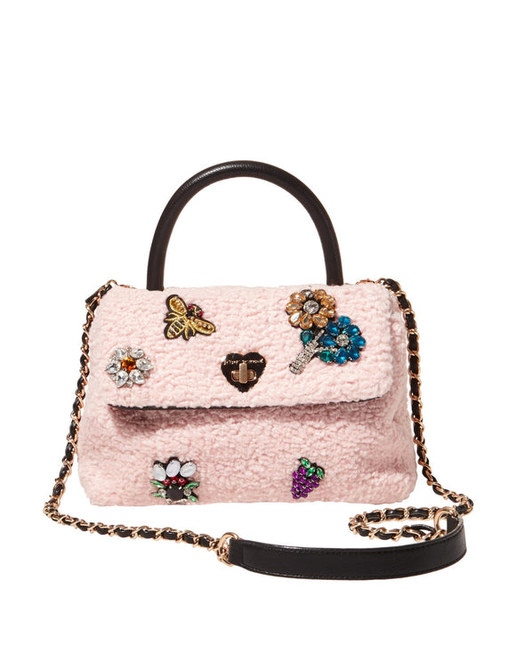 Betsey Johnson Curly Girl Top Handle Crossbody Bag
