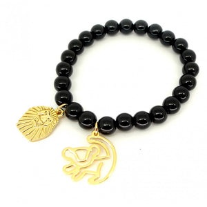 Disney by Couture Kingdom The Lion King Mufasa and Simba Beaded Bracelet