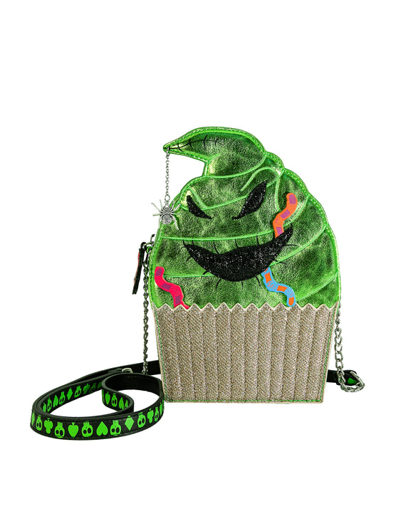 Danielle Nicole Nightmare Before Christmas Oogie Boogie Cupcake Crossbody Handbag
