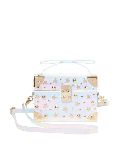 Betsey Johnson Kitsch Don't Box Me In Metallic Crossbody Bag