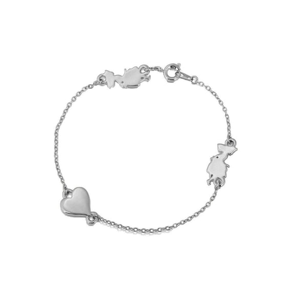 Disney by Couture Kingdom Alice in Wonderland Heart Bracelet