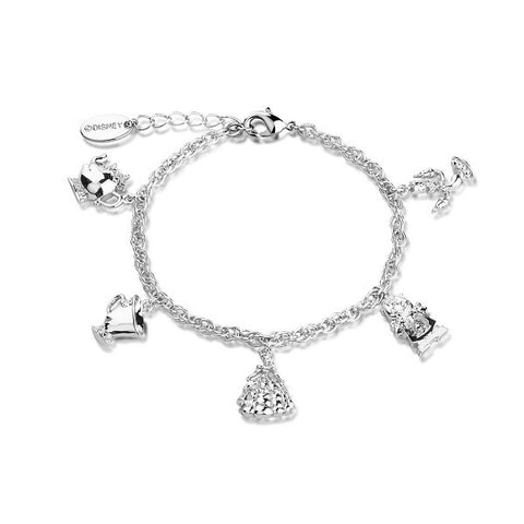 Disney by Couture Kingdom Beauty and the Beast Charm Bracelet