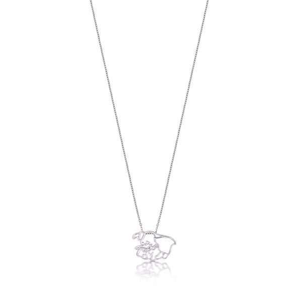 Disney by Couture Kingdom Dumbo Outline Necklace