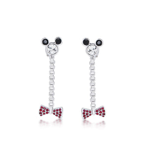 Disney by Couture Kingdom Minnie Mouse Bow Drop Earrings