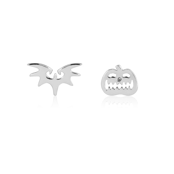 Disney by Couture Kingdom Tim Burton's The Nightmare Before Christmas Pumpkin and Bat Mix-Match Stud Earrings