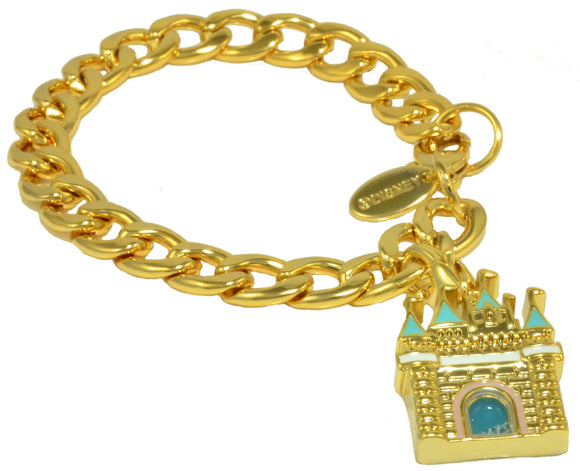 Disney by Couture Kingdom Plated Magic Castle Charm Starter Bracelet