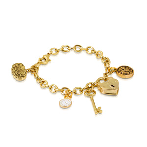Disney by Couture Kingdom Alice in Wonderland Time Padlock Bracelet