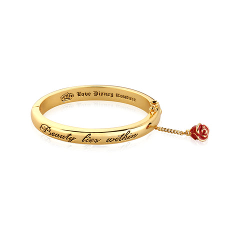 Disney by Couture Kingdom Beauty and the Beast Beauty Lies Within Bangle Bangle - Yellow Gold Plated