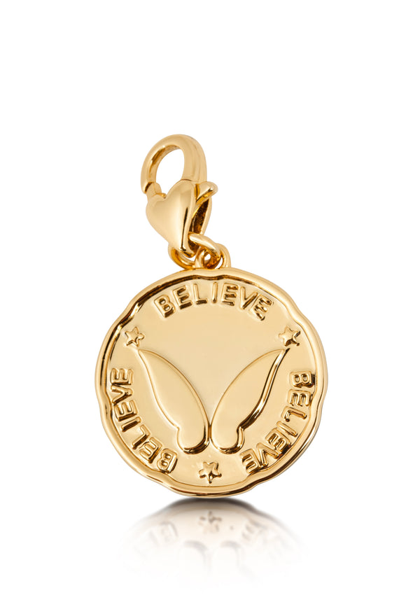 Disney by Couture Kingdom Tinker Bell Believe Coin Charm