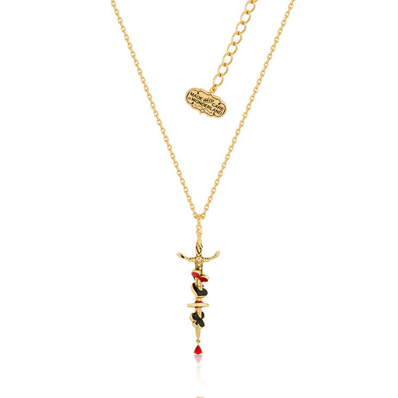 Disney by Couture Kingdom Alice in Wonderland Queen of Hearts Sword Necklace