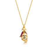 Disney by Couture Kingdom Beauty and the Beast Rose Petal Necklace