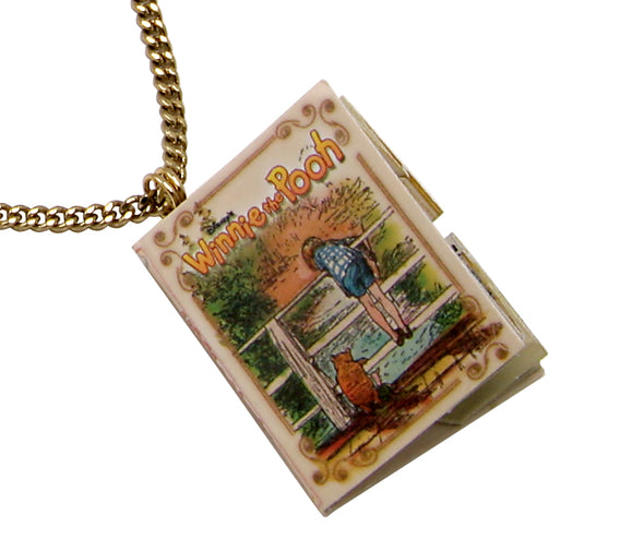 Disney by Couture Kingdom Winnie the Pooh Map Book Necklace
