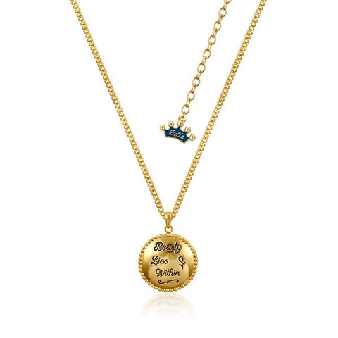 Disney by Couture Kingdom Beauty and the Beast Beauty Lies Within Locket Necklace