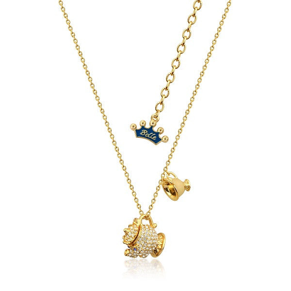 Disney Couture Beauty and the Beast Mrs. Potts Necklace
