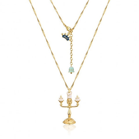 Disney by Couture Kingdom Beauty and the Beast Lumiere Necklace