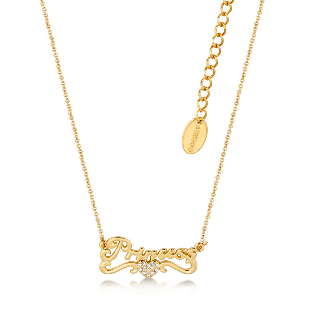 Disney by Couture Kingdom Cinderella Princess Necklace - Yellow Gold Plated