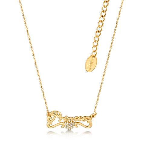 Disney Couture Cinderella Princess Necklace - Yellow Gold Plated