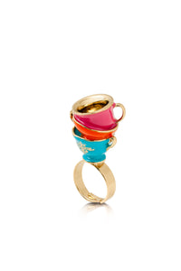 Disney by Couture Kingdom Alice in Wonderland Tea Cup Ring