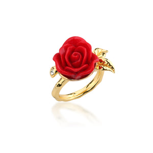 Disney by Couture Kingdom Beauty and the Beast Enchanted Rose Wrap Ring