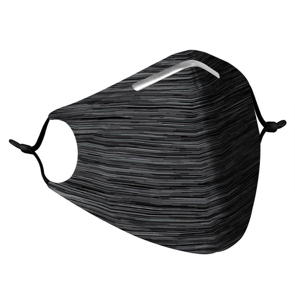 Heather Black- Reusable Face Mask
