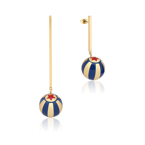 Disney by Couture Kingdom Dumbo Circus Ball Drop Earrings