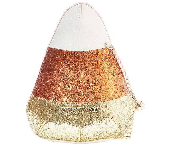 Betsey Johnson Kitsch Do I Make You Corny Candy Corn Crossbody Bag