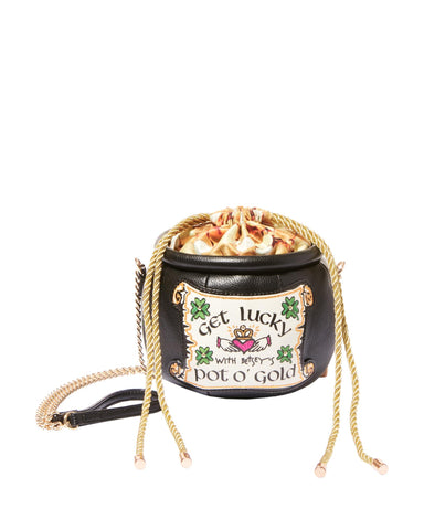 Betsey Johnson Kitsch Get Lucky Pot O' Gold Crossbody Bag