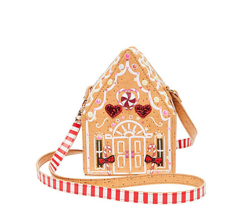 Betsey Johnson Kitsch Gingerbread House Crossbody Bag