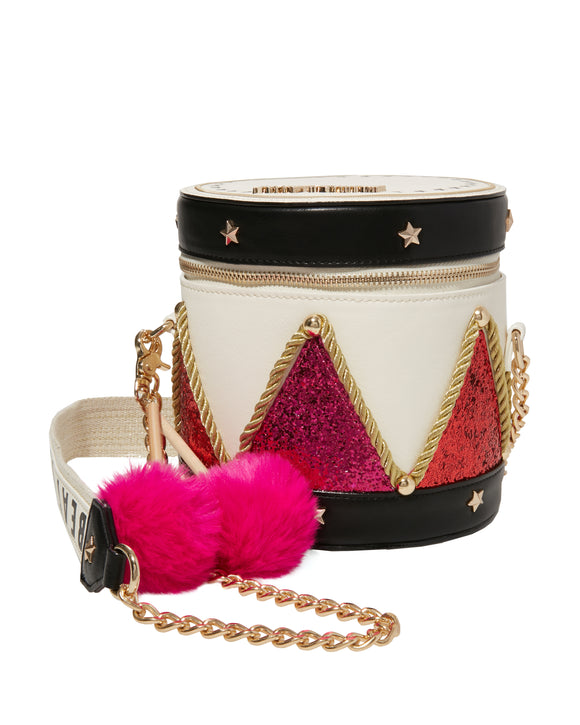Betsey Johnson Kitsch Little Drummer Girl Crossbody Bag