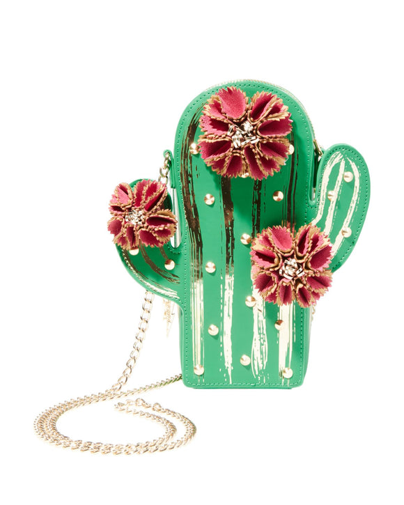 Betsey Johnson Kitsch Lookin Sharp Cactus Crossbody Bag