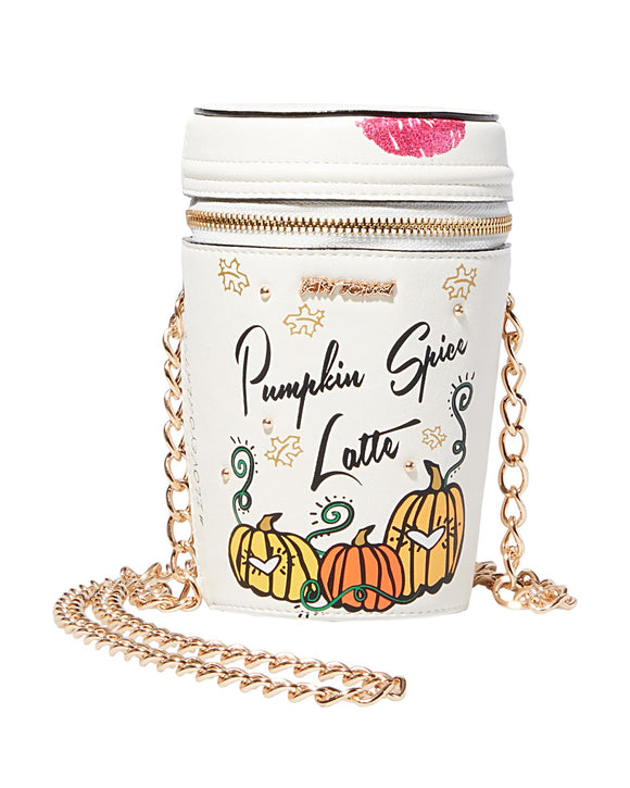 Betsey Johnson Kitsch Pumpkin Spice Crossbody Bag