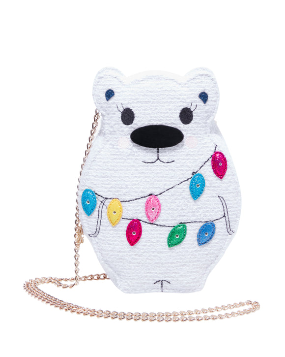Betsey Johnson Kitsch Snow Bear Crossbody Bag