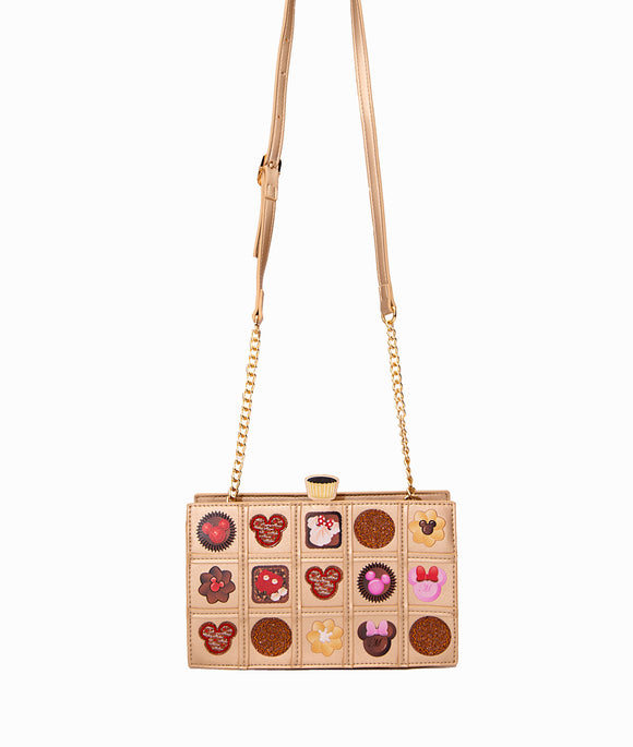 Danielle Nicole Minnie Mouse Chocolate Box Crossbody Handbag