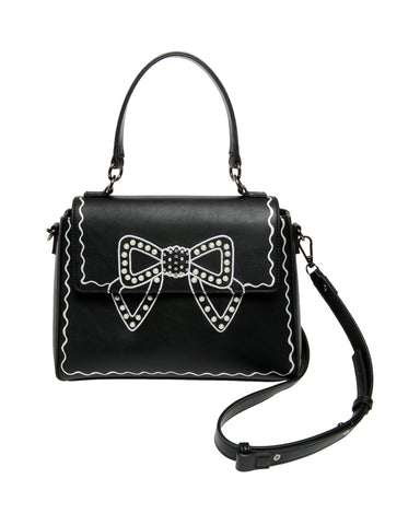 Betsey Johnson Pretty Pearly Bow Crossbody Bag