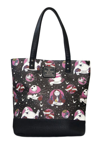 Loungefly Nightmare Before Christmas Tattoo Flash Print Tote Bag