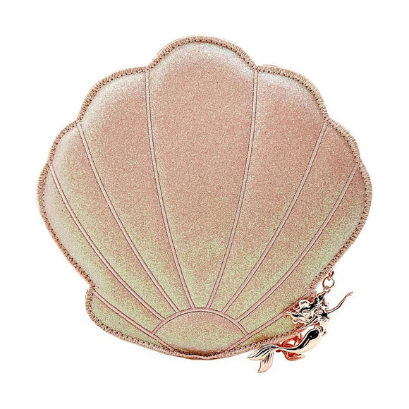 Loungefly The Little Mermaid Rose Gold Shimmer Shell Crossbody Purse