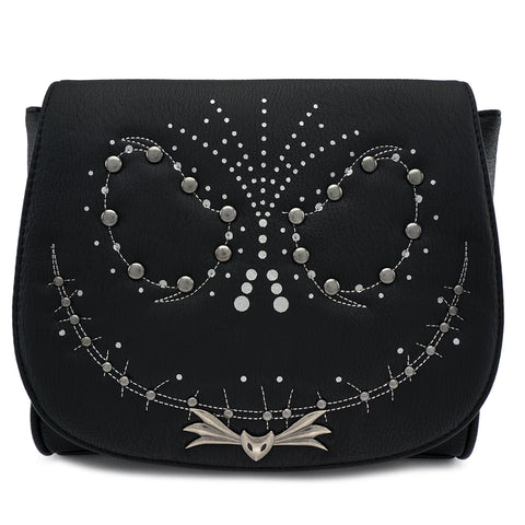 Loungefly The Nightmare Before Christmas Jack Studded Crossbody Handbag