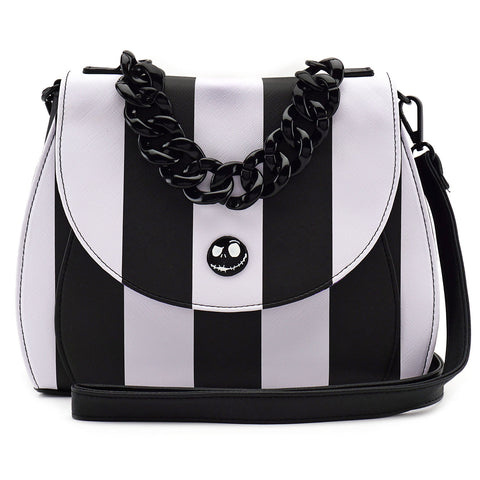 Loungefly The Nightmare Before Christmas Striped Crossbody Bag