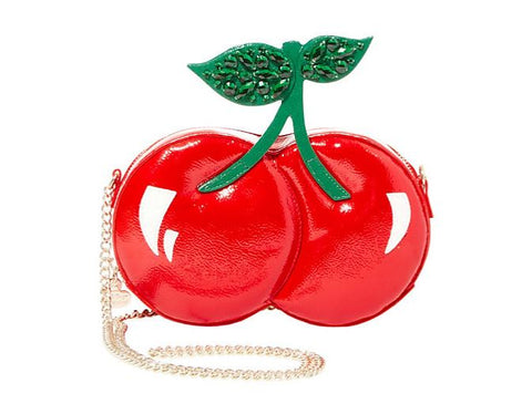 Betsey Johnson Kitsch Cherries On Top Crossbody Bag