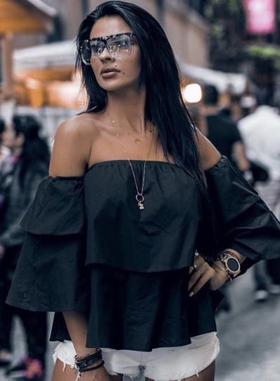 Rosie Off Shoulder Black Top