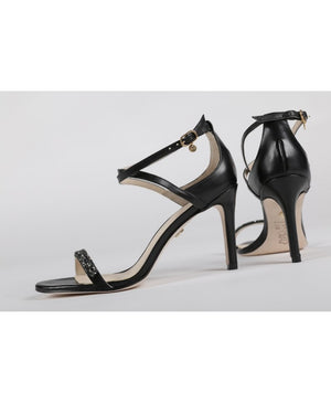 Women's Embellished Gala Sandals - Color Black - by Guilhermina