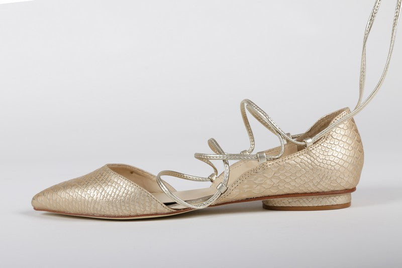 Women's Ballerina Slippers - Gold - by Guilhermina