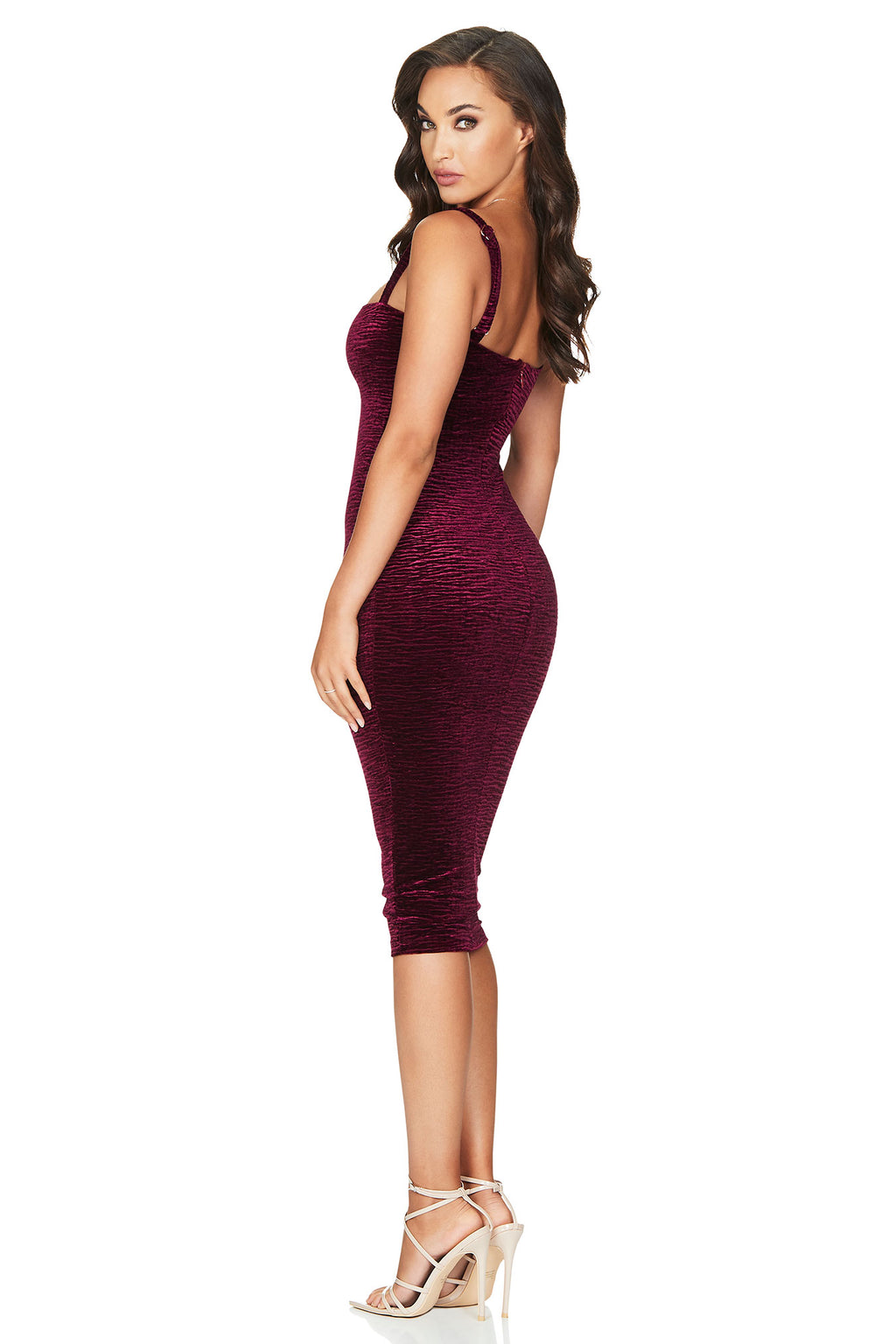 NOOKIE WINE SECRET VELVET MIDI