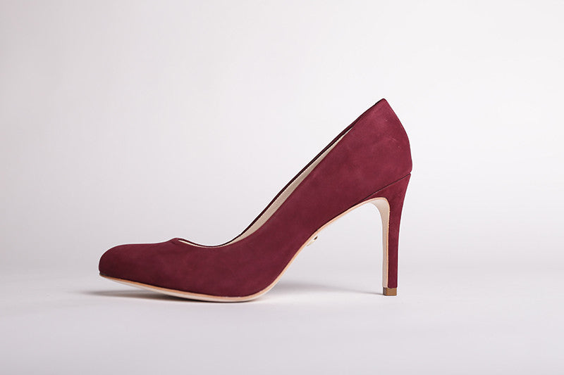 Women's Burgundy Pumps - Color Burgundy - by ParlerLaMode