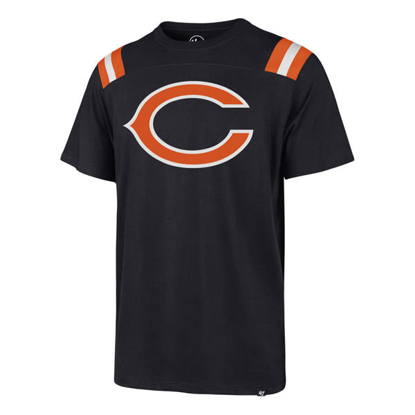 '47 Brand Chicago Bears Men's Fall Navy Imprint Rumble Tee