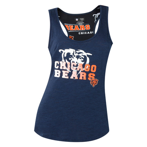 Women's Chicago Bears Concepts Sport Fusion Ladies Racerback Tank Top