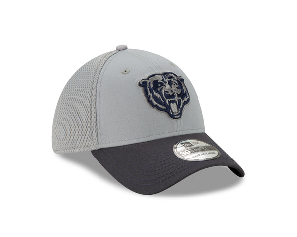 Chicago Bears New Era 39THIRTY Gray Team Headwear Fitted Hat